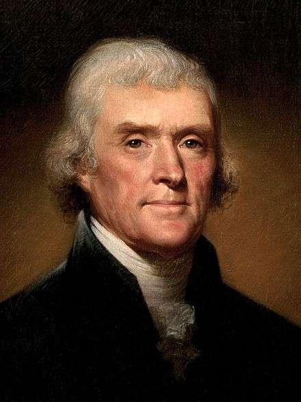 美國第三任總統湯瑪斯.傑佛遜(Thomas Jefferson)。(取自維基百科)