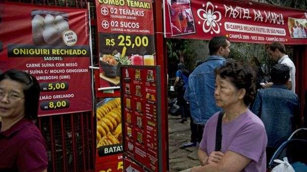 日本食物在巴西很流行。(BBC中文網)
