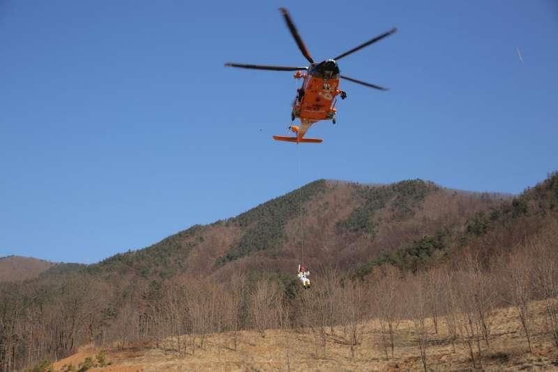為了避免駭客攻擊,維安小組將出動直升機在賽場周邊以訊號發送槍,干擾無線電訊號。(圖/Pyeongchang 2018)