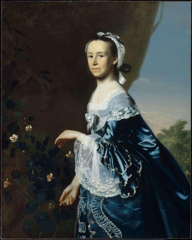 辛格萊頓《詹姆斯·華倫夫人》。(圖/取自波士頓博物館官網)