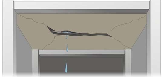 如果樓板開裂,管線破壞,狀況非常危急。(取自國家地震研究中心網頁)