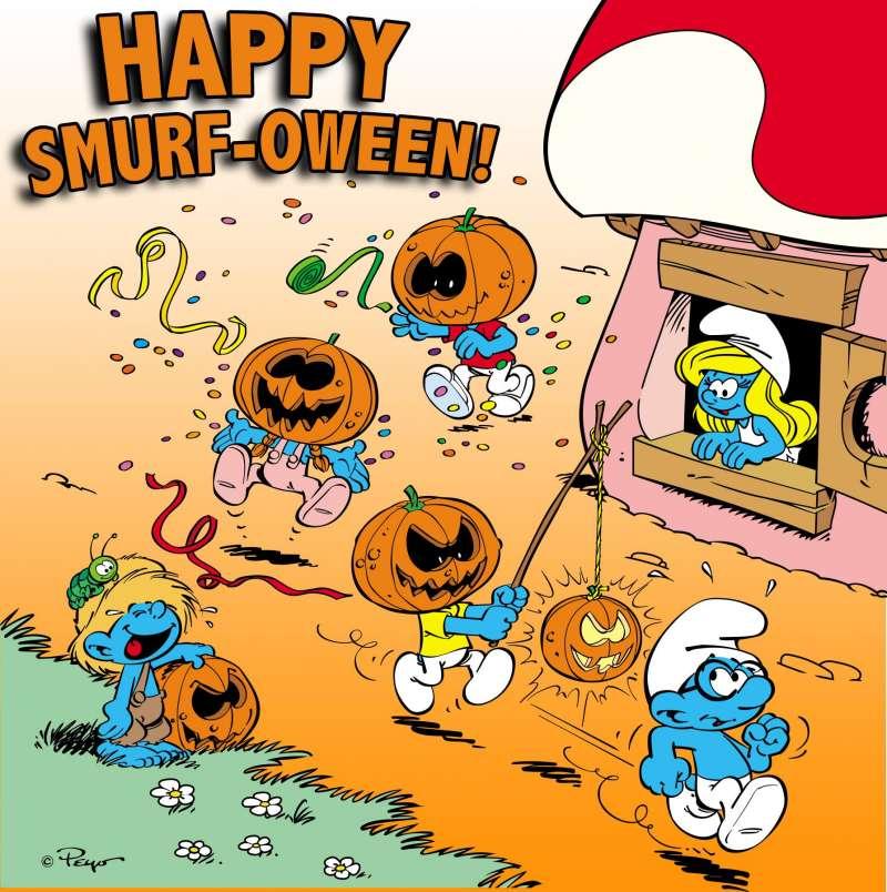 2018-02-12-源自比利時的漫畫藍色小精靈。(取自藍色小精靈電影SmurfMovie臉書)