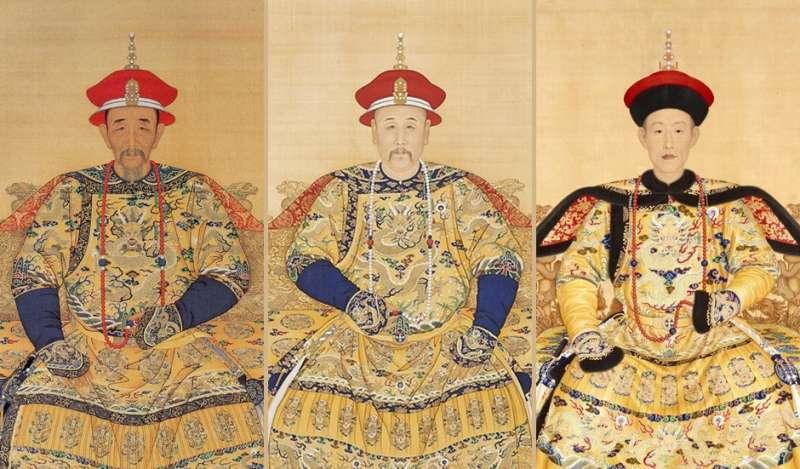 康熙、雍正、乾隆畫像(製圖/風生活|原圖取自wiki)