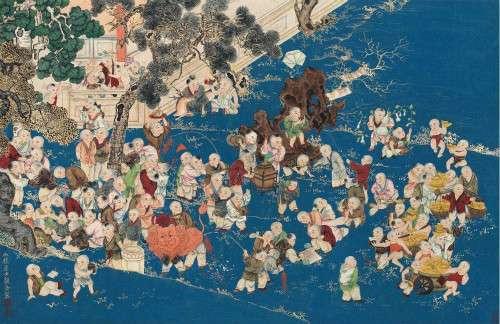 百子圖,清代中期在民間開始流行的吉祥圖案。(圖/澎湃新聞提供)