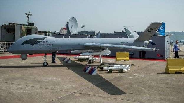 中國出售的軍用無人機。(BBC中文網)