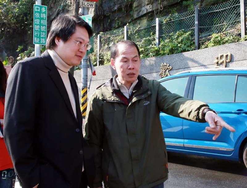基隆市長林右昌到現場視察,強調基隆已改變。(圖/張毅攝)