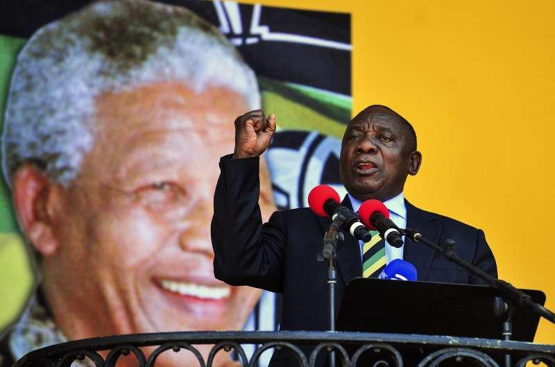 南非總統祖馬辭職,由副總統拉馬福薩繼任。(美聯社)
