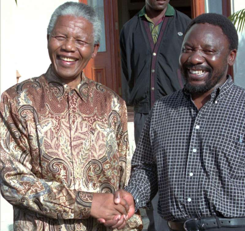 南非民權領袖曼德拉(左)與拉馬福薩(AP)