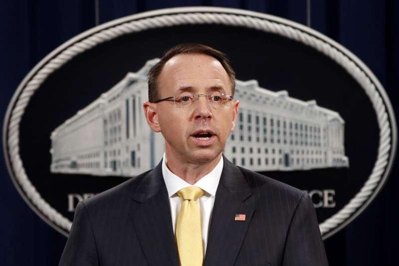 川普通俄門:美國司法部副部長羅森斯坦表示13名俄羅斯人被起訴(AP)