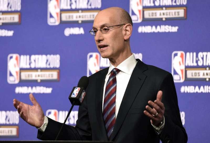 NBA主席西爾弗釋出可能更改季後賽制的想法。(美聯社)