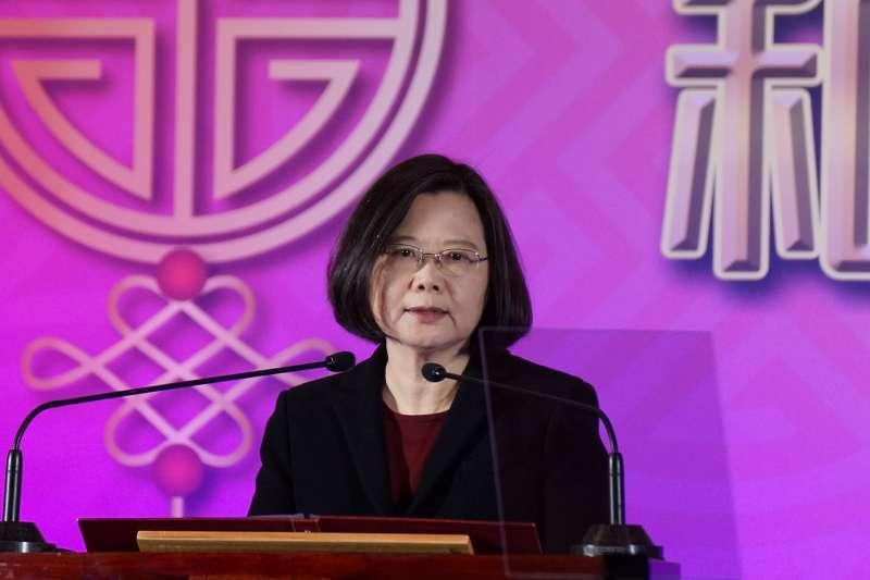 20180221-2018大陸台商春節聯誼活動,總統蔡英文出席。(盧逸峰攝)