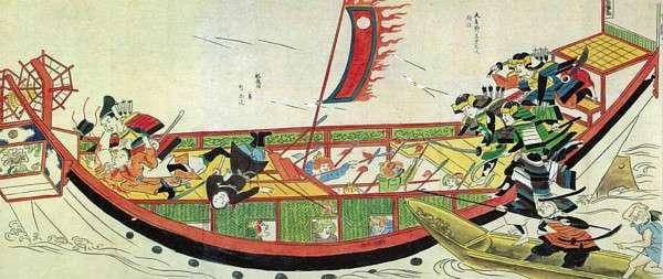 「弘安之役」蒙古襲來繪詞之二。(圖/澎湃新聞提供)