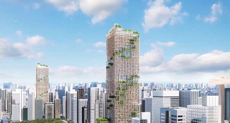 透過木造建築,讓城市變為森林。(圖/取自Dezeen,瘋設計提供)
