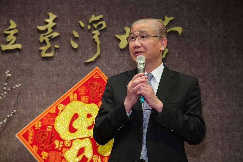 20180222-前台大校長楊泮池22日出席台大春節團拜。(顏麟宇攝)