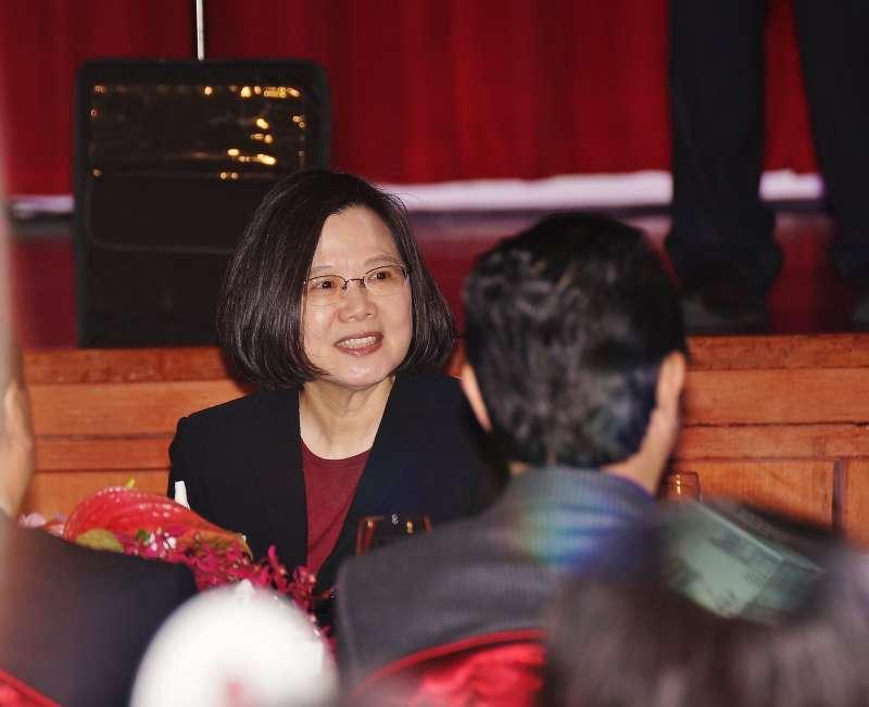 20180221-總統蔡英文出席「2018大陸台商春節聯誼活動」。(盧逸峰攝)