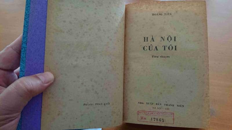 越南老兵作家黃進的歷史小說《我的河內》。(圖/Nam Quốc Văn提供|想想論壇)