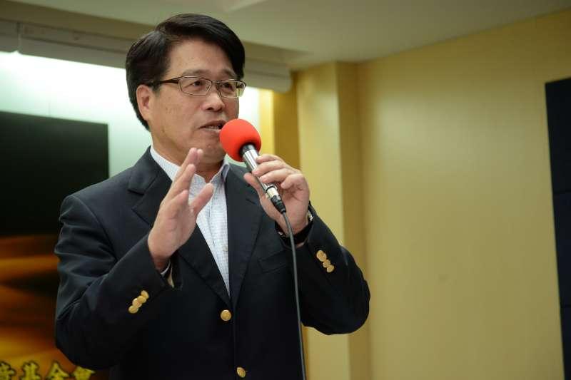 20180228-台灣民意基金會民調發表會,台灣民意基金會董事長游盈隆。(甘岱民攝)