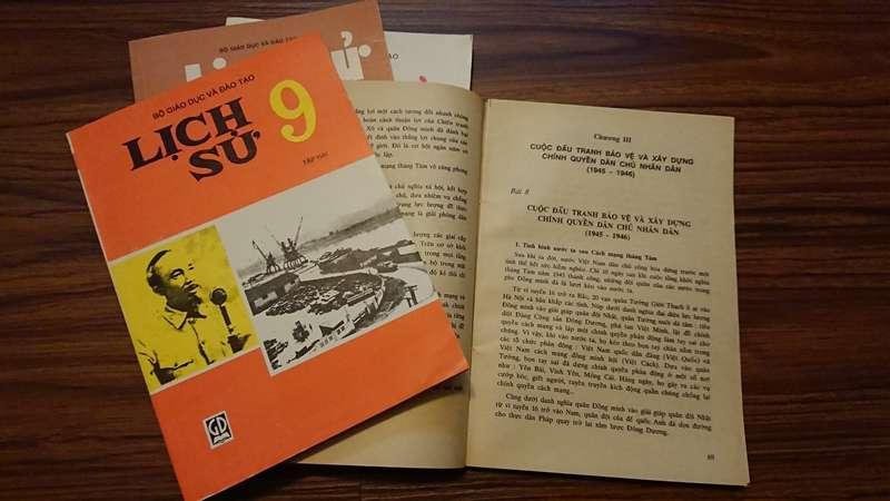 越南的中學歷史教科書。(圖/Nam Quốc Văn提供|想想論壇)