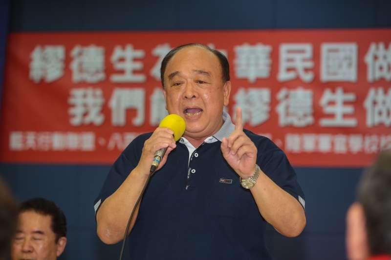 20180301-八百壯士副指揮官吳斯懷1日出席「誓死維護中華民國憲法之完整,以及軍人之尊嚴!」記者會。(顏麟宇攝)