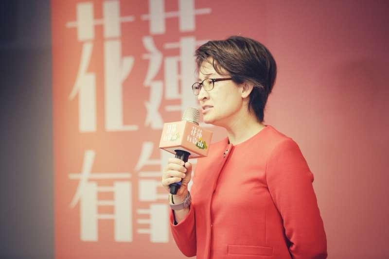 立法委員蕭美琴表示,讓台灣人做花蓮靠山的活動,不只是重振花蓮的觀光產業,同時也讓更多人主動參與、認識花蓮。(中華文化總會提供)