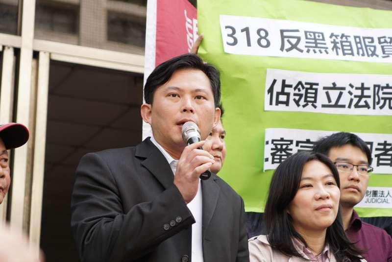 20180313-「318學運案二審宣判」記者會,黃國昌發言。(盧逸峰攝)