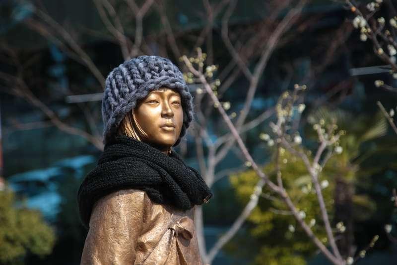 20180312-慰安婦專題,韓國晉州,晉州市和平少女像。(顏麟宇攝)