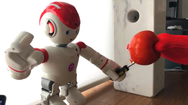 機器人UBTech Alpha 2受到惡意指令操作時,可能會傷及無辜(圖片來源:Wiki)