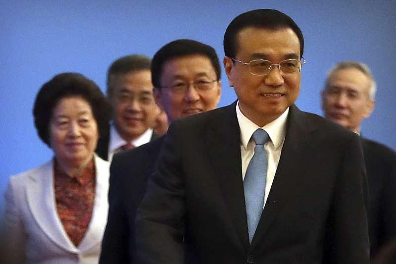 2018年中國人大,國務院總理李克強與4位副總理(AP)
