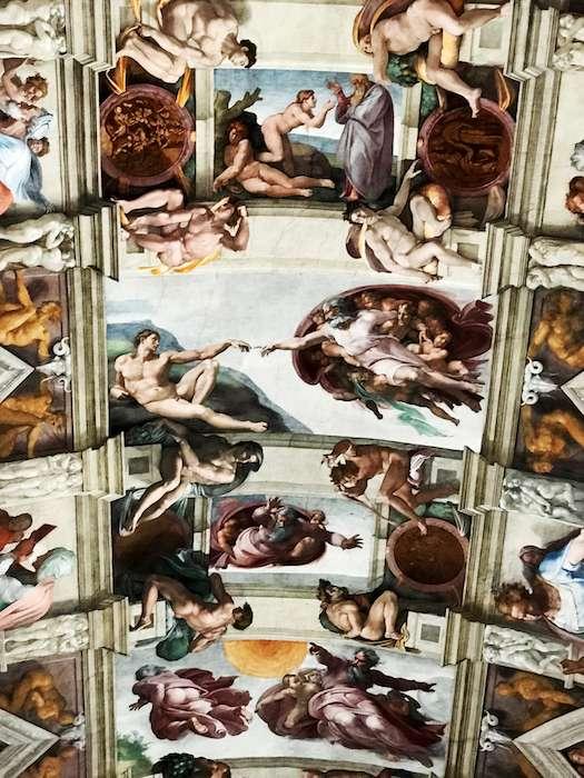 西斯廷教堂穹頂。(曾廣儀攝)