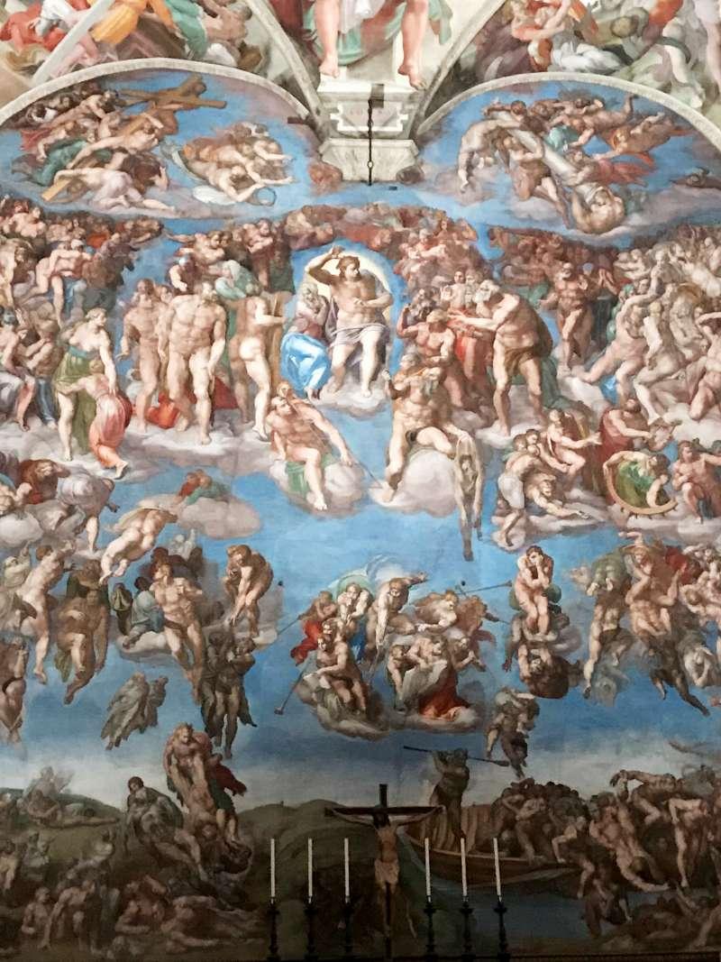 西斯廷教堂的最後審判。(曾廣儀攝)