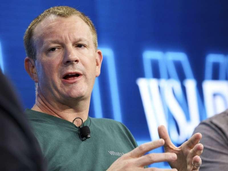 在2014年被Facebook收購的通訊軟體WhatsApp,創辦人也在Twitter上呼籲刪除Facebook。 (圖/取自Twitter,數位時代提供)