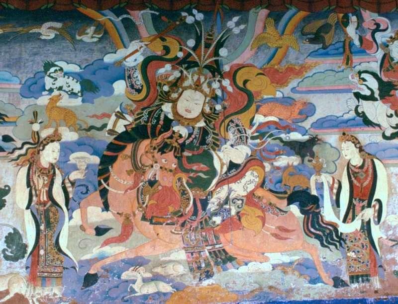 格薩爾王壁畫(Gruschke ∕維基百科)