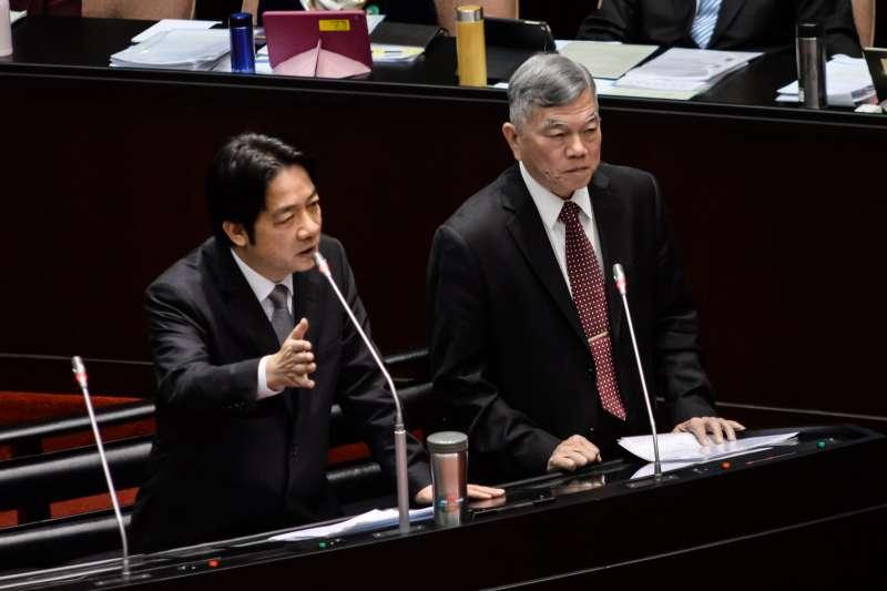 20180323-立法院院會,行政院長賴清德與經濟部長沈榮津備詢。(甘岱民攝)