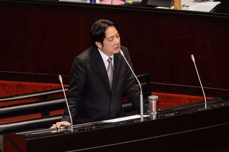 20180323-立法院院會,行政院長賴清德備詢。(甘岱民攝)