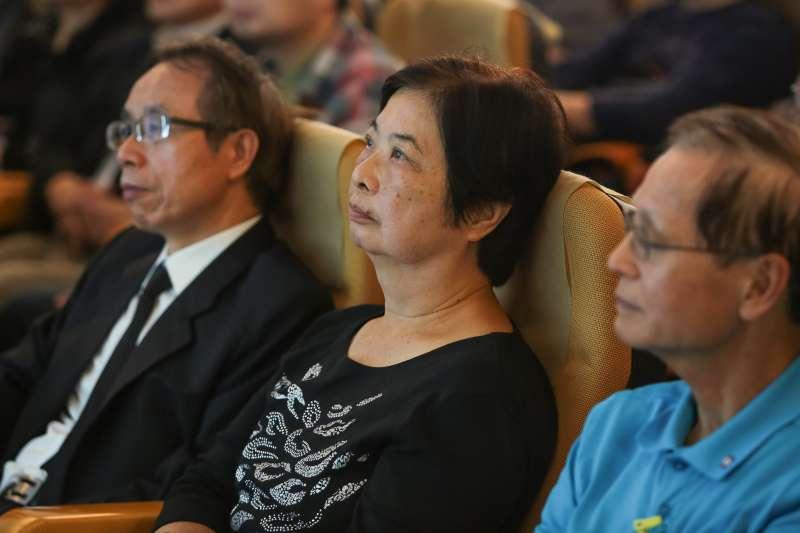 20180325-前立委陳婉真25日出席「黃晴美天涯人間紀念座談會」。(顏麟宇攝)
