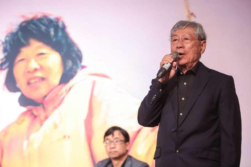 20180325-424刺蔣案當事人鄭自才25日出席「黃晴美天涯人間紀念座談會」。(顏麟宇攝)