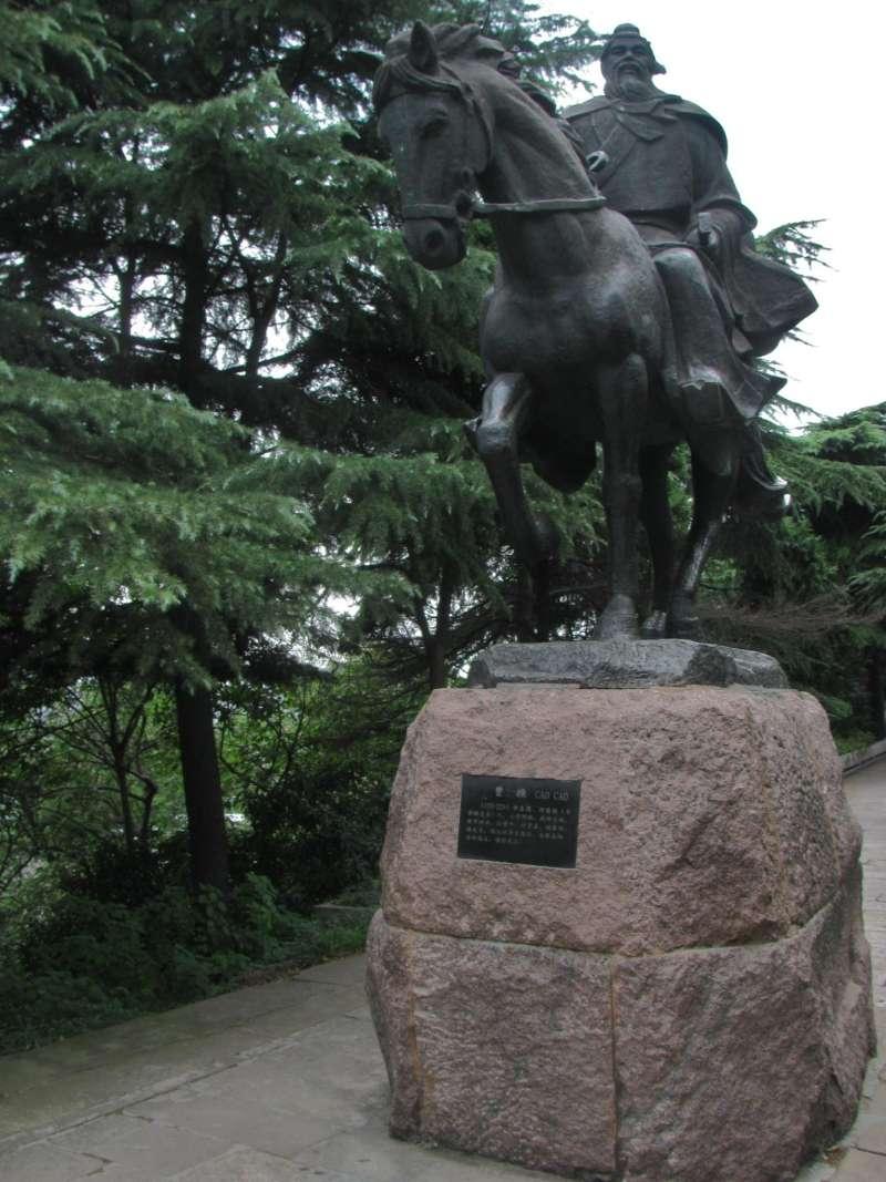 湖北省武漢市的曹操雕像(Dhugal Fletcher@維基百科 / CC BY-SA 2.0)
