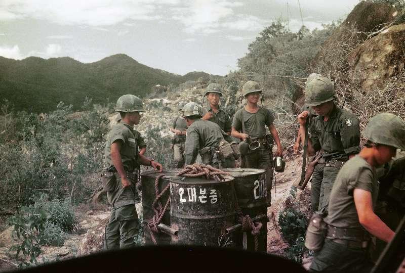 參與越戰的南韓陸軍白馬部隊官兵(manhhai@Wikipedia CC BY 2.0)