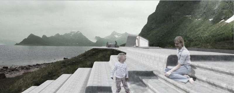 嶄新的「烏瑞帕森紀念碑」景區。(圖/取自nasjonaleturistveger ,瘋設計提供)