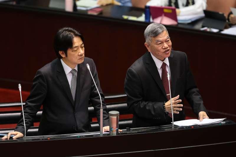 20180327-經濟部長沈榮津27日於立院備詢。(顏麟宇攝)