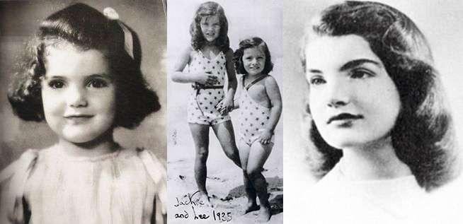 年幼時的賈桂琳,可愛得如同洋娃娃(圖/言人文化提供)
