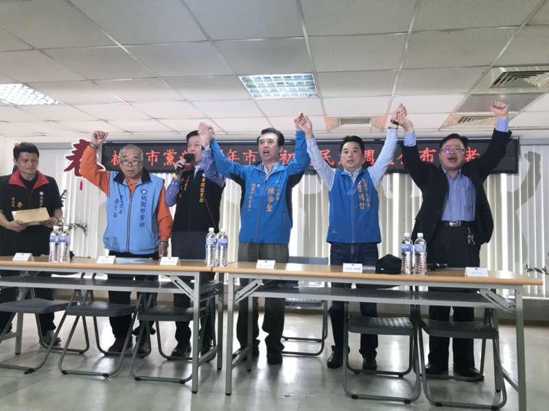 20180328-國民黨桃園市長初選,藍委陳學聖以些微差距勝出。(陳學聖辦公室提供)