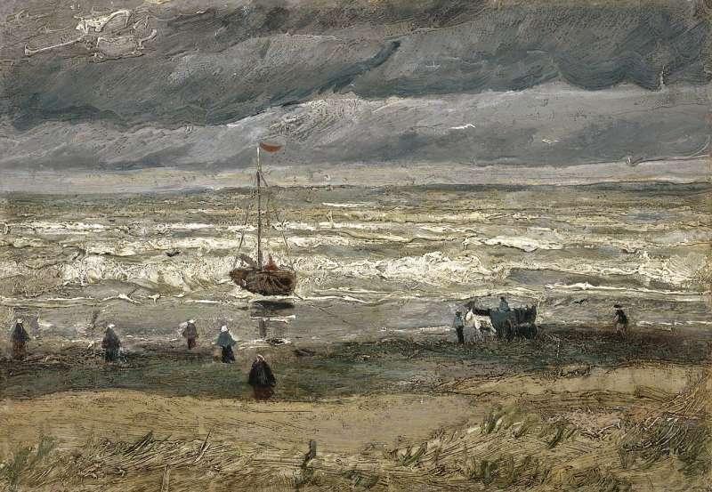 梵谷名畫《席凡寧根的海景》(Wikipedia/Public Domain)