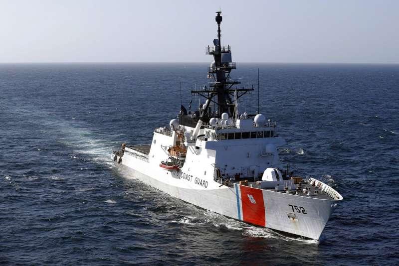 美國海岸防衛隊巡邏艇「史崔頓號」(USCGC Stratton)。(AP)