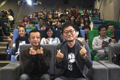 台灣金獎導演楊雅喆(左)與姜帝圭帶來一場精采的台韓對望論壇。(圖/高雄市政府文化局提供)