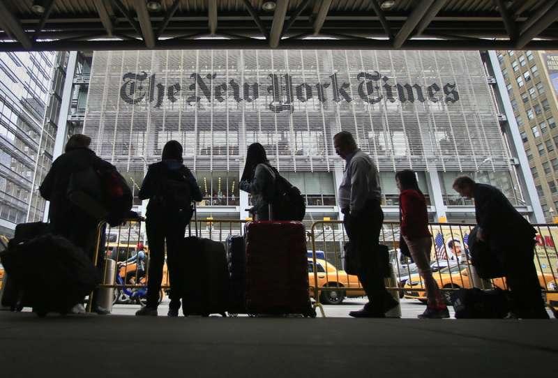 《紐約時報》經常受到川普總統批評(美聯社)
