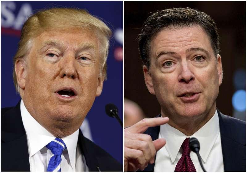 美國總統川普大戰聯邦調查局(FBI)前任局長柯密(James Comey)(AP)
