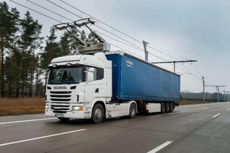 卡車專用電力公路。(圖/智慧機器人網提供)