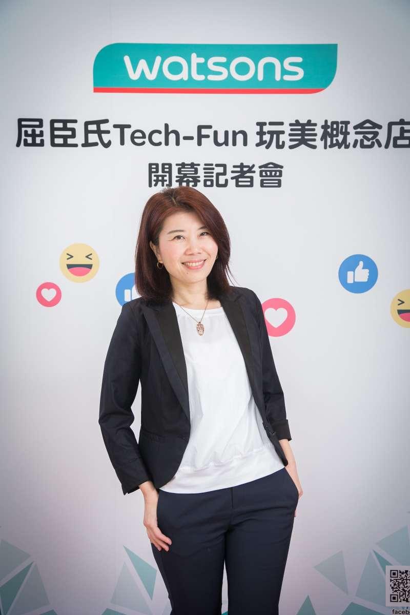 屈臣氏總經理弋順蘭Kay分享:「《Tech-Fun玩美概念店》是屈臣氏第八代店型,台灣是全球屈臣氏第一個採用此店型的市場,未來此店型也會擴展到其他國家。」(圖/屈臣氏提供)
