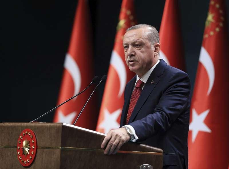 土耳其總統艾爾多安(美聯社)